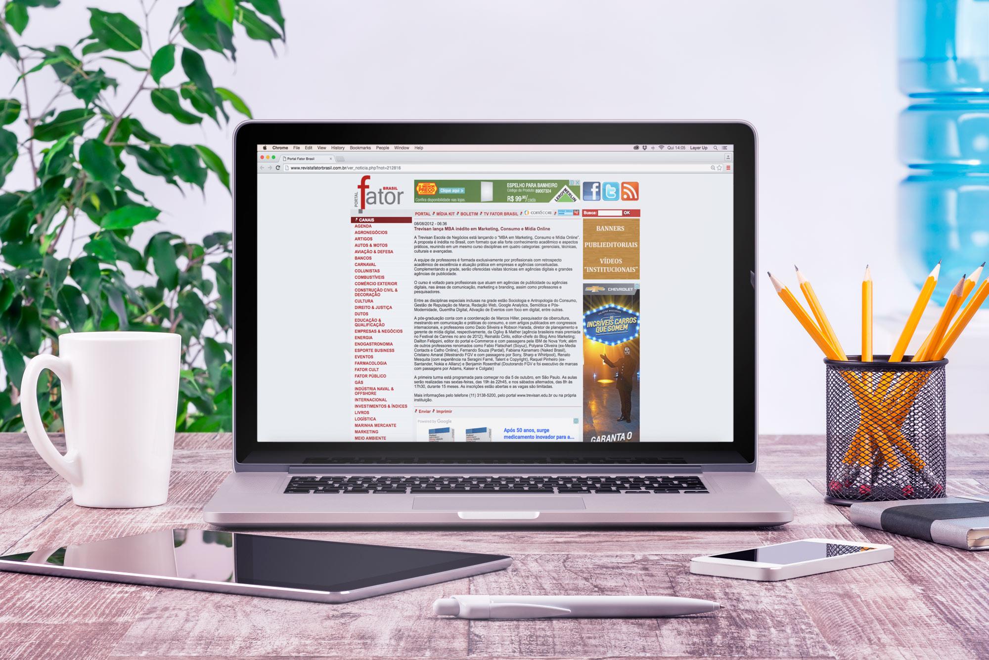 Marketing, Consumo e Mídia Online na Revista Fator Brasil