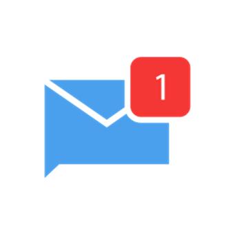 Imagem de nova mensagem em alusão à DM (Direct Message)