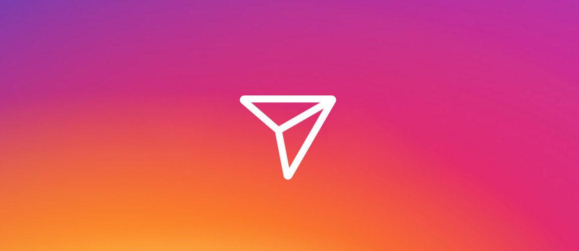 Imagem de símbolo de direct message no Instagram