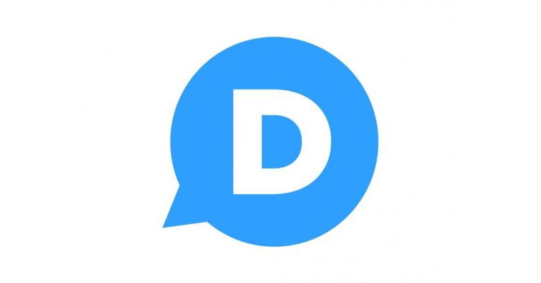 Logomarca do serviço Disqus