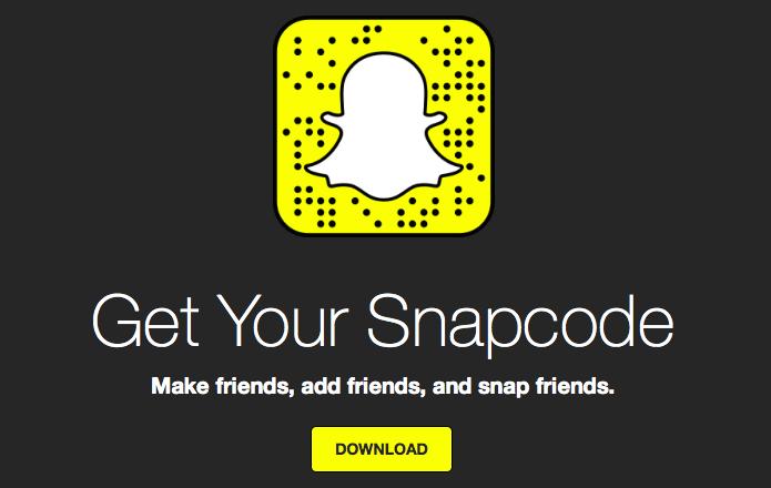 Imagem de geração de snapcode do Snapchat