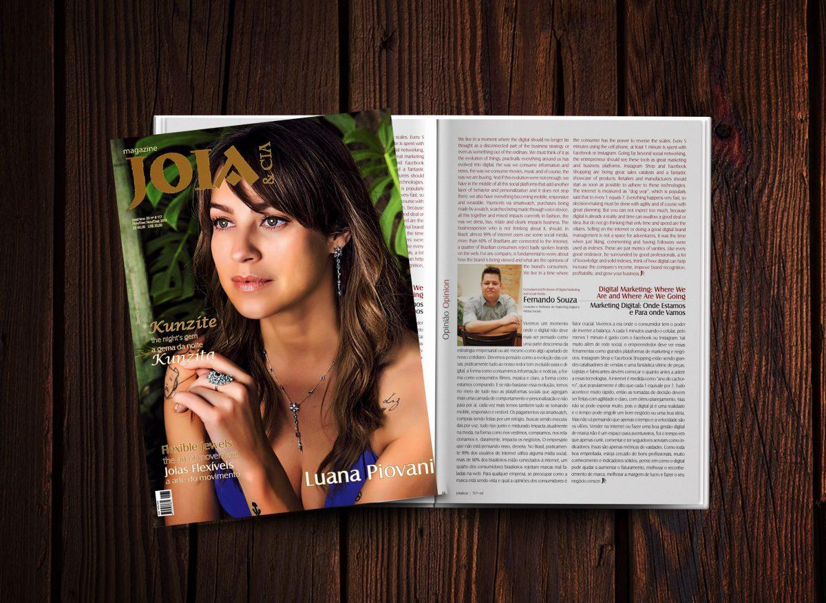 Entrevista – Marketing Digital, moda e negócios: Onde Estamos e para onde vamos – Revista Joia & Cia ed. 117