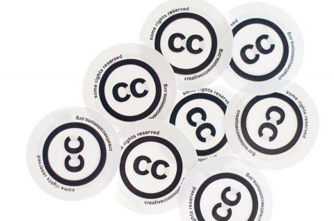 Imagens de logotipos de licença Creative Commons